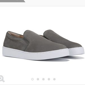 Vionic Gray Suede Slip On Sneakers
